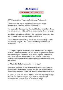 STP ASSIGNMENT / TUTORIALOUTLET DOT COM