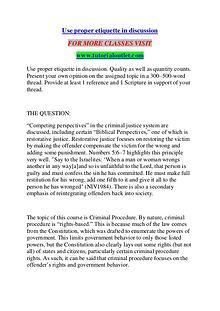 USE PROPER ETIQUETTE IN DISCUSSION / TUTORIALOUTLET DOT COM