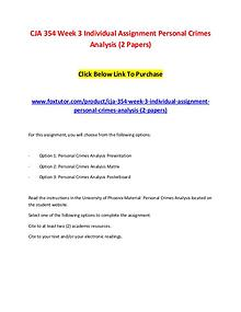 CJA 354 Week 3 Individual Assignment Personal Crimes Analysis (2 Pape