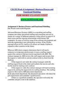 CIS 353 RANK Extraordinary Success /cis353rank.com