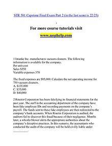 STR 581 help A Guide to career/uophelp.com