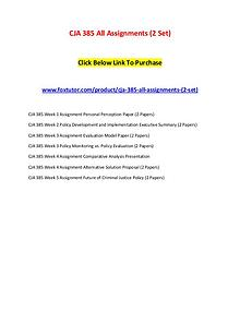 CJA 385 All Assignments