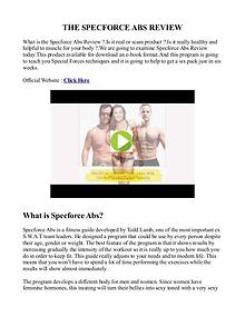 Specforce Abs PDF / Workout Free Download