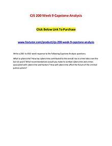 CJS 200 Week 9 Capstone Analysis
