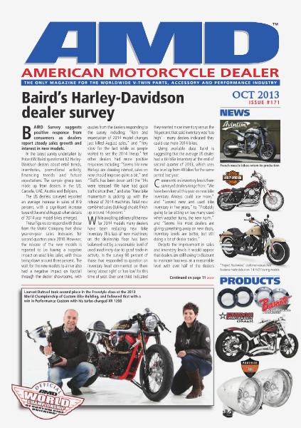 American Motorcycle Dealer AMD 171 October 2013