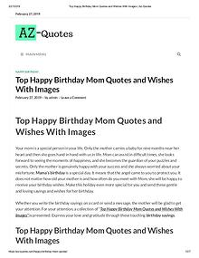 happy birthday mom quotes from daughter | Az-QUotes