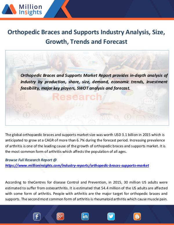 Market News Today Orthopedic Braces and Supports Industry