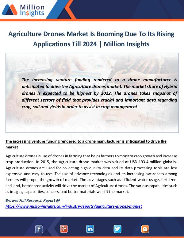 Market News Today Agriculture Drones Market Is Booming