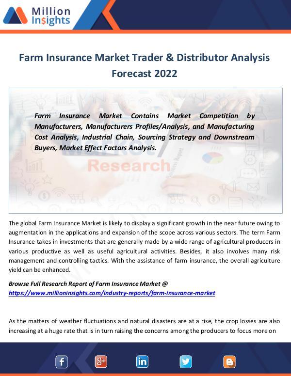 Market Revenue Farm Insurance Market Trader & Distributor 2022