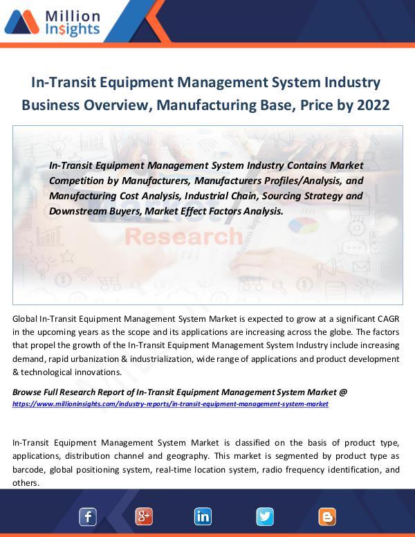 Market Revenue In-Transit Equipment Management System Industry
