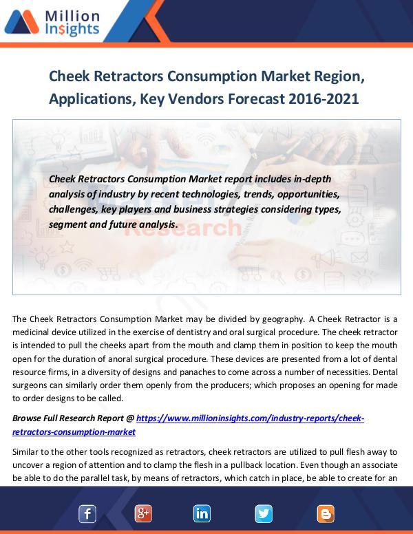Market World Cheek Retractors Consumption Market