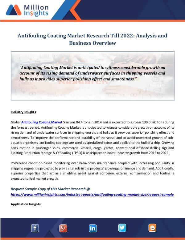 Market World Antifouling Coating Market Research Till 2022