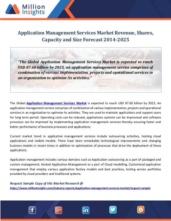 Market Research Insights Application Management Services Market