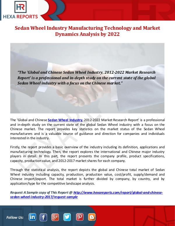 Hexa Reports Sedan Wheel Industry Manufacturing Technology and