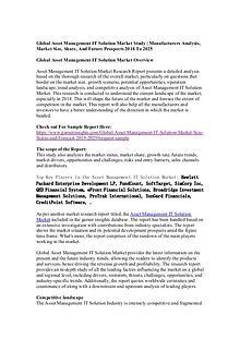 Global Asset Management IT Solution Market Study