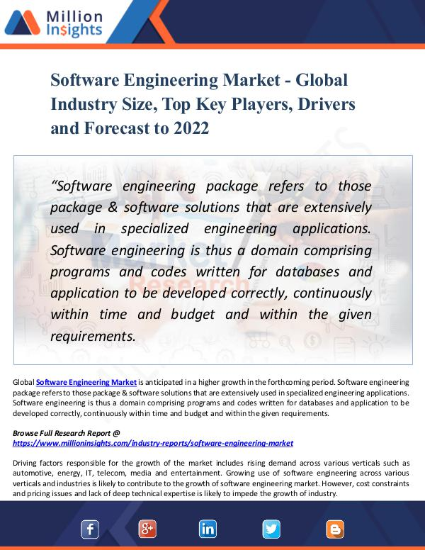 Market New Research Software Engineering Market - Global Industry Size