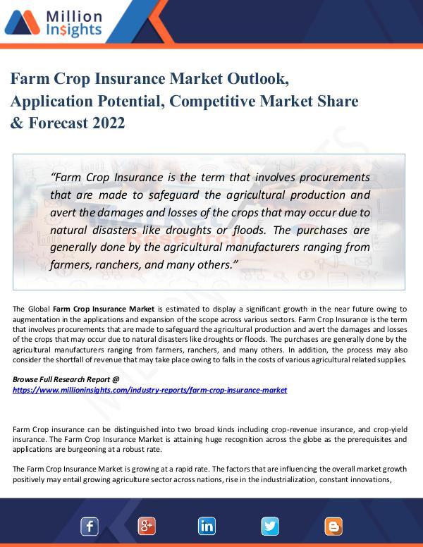 Market Share's Farm Crop Insurance Market Outlook, Application