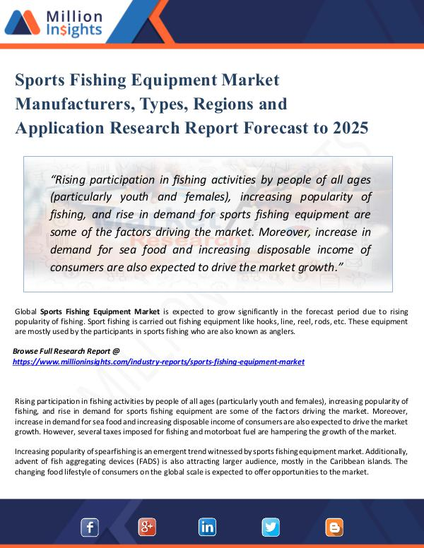 Market New Research Sports Fishing Equipment Market Manufacturers,