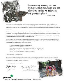 Camp Newsletter and Campership Appeal