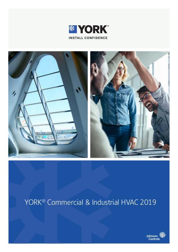 York HVAC Catalogue 2018 EN 2019 EN