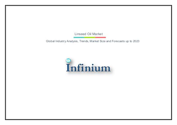 Infinium Global Research Linseed Oil Market