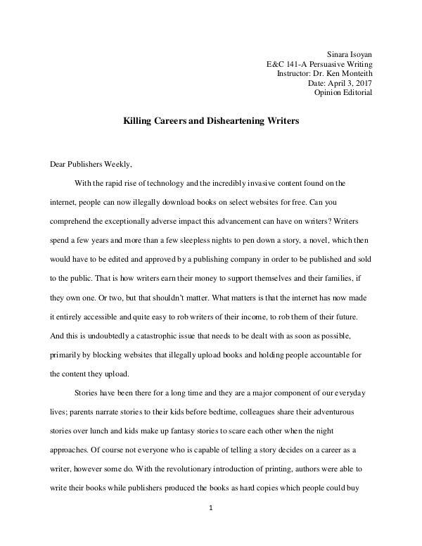 Opinion Editorial