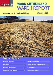 Ward 1 Report, March 2018