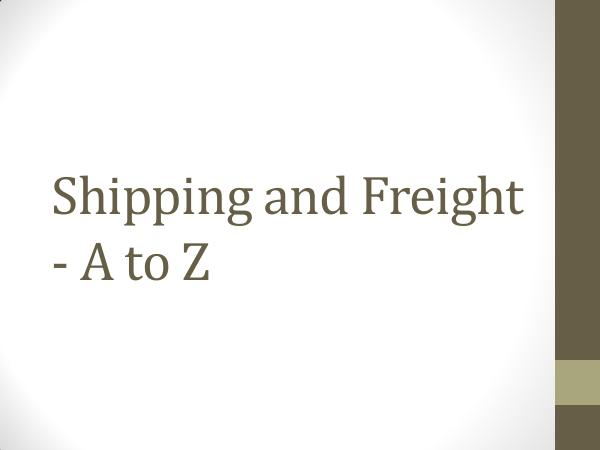 Ontario Container Transport Shipping and Freight - A to Z