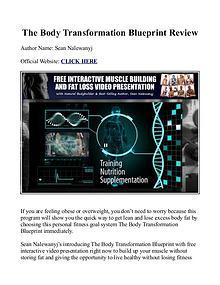The Body Transformation Blueprint PDF /  Workout, Book Free Download