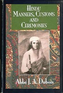 Hindu Manners, Customs and Ceremonies - DUBOIS, Abbé