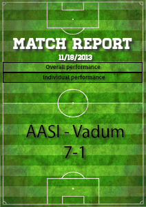 Match report sample Nov. 2013.