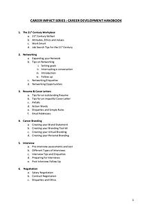 Career Development Handbook