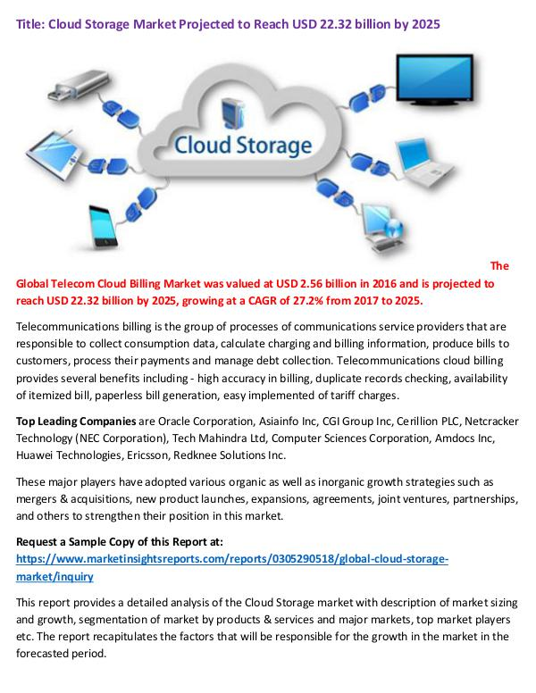 Research Report Cloud Storage Market Projected to Reach USD 22.32