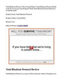 Total Blackout Protocol PDF / eBook Review Free Download