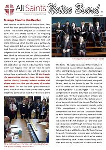 All Saints Newsletter