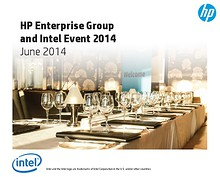 HP Enterprise Group and Intel Event 2014 01