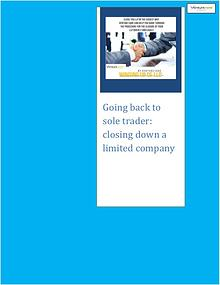 Venture Care: closing down a limited company