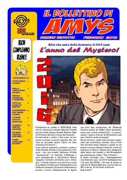 AMys - Bollettino Informativo N.28 - Febbraio 2016