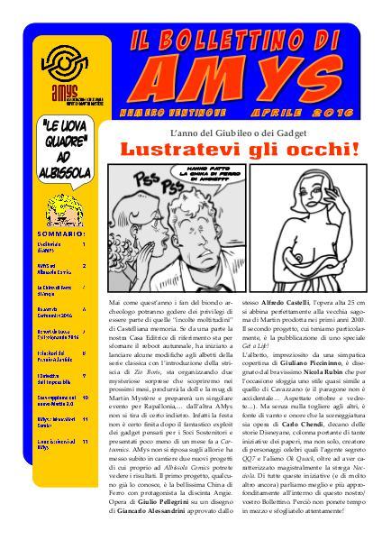 AMys - Bollettino Informativo N.29 - Aprile 2016