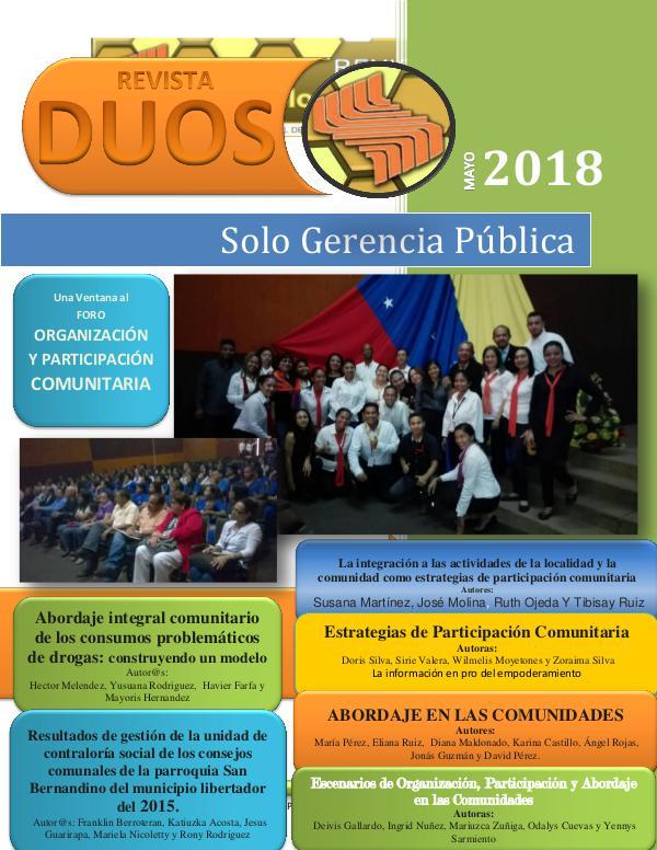 DUOS - Solo Gerencia Pública LA PARTICIPACIÓN COMUNITARIA