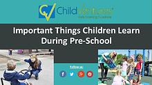 Important Skills Kids Learn During Preschool