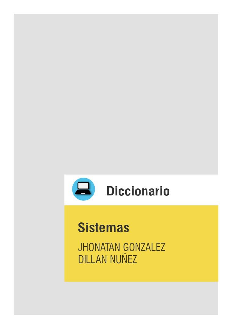 Diccionario Sistemas