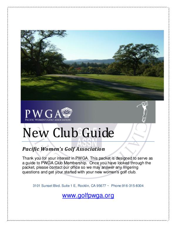 New Club Guide New Club Packet updated 2018
