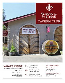 Winery By the Creek Caverne Society Quarterly