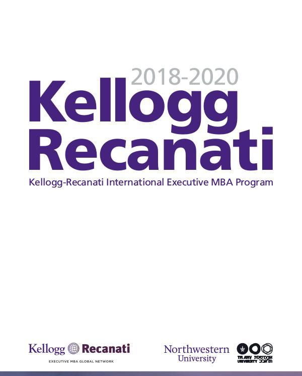 Kellogg Recanati 2018-2020 Kellogg_Recanati_2018-2020_web