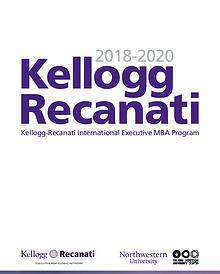 Kellogg Recanati 2018-2020