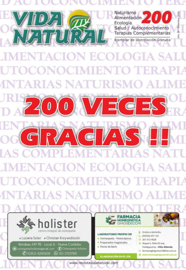 Revista Vida Natural Nro 200 - Diciembre 2018