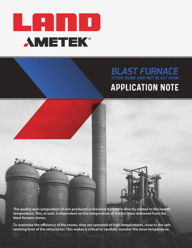 Application Note: Note Blast Furnace Temperature Measurement Application Note Blast Furnace Temperature Measure