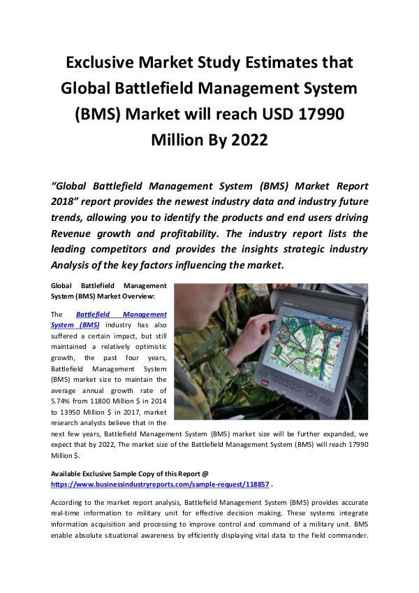 Battlefield Management System (BMS) Market 2018 -