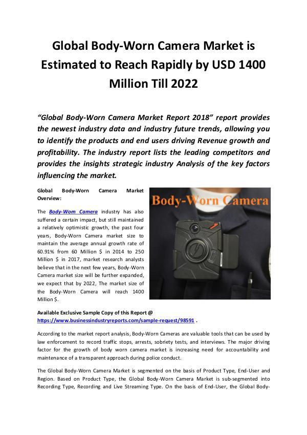 Body-Worn Camera Market 2018 - 2022